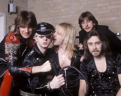 Judas Priest KK Downing, Ian Hill, Rob Halford, Dave Holland, Glenn Tipton Photo