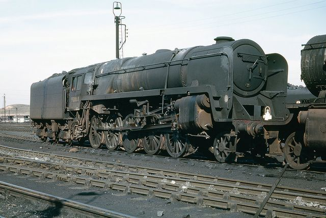 BR Standard Class 9F 2-10-0 92088 in the shed yard at Annesley (16B). 28th March 1965