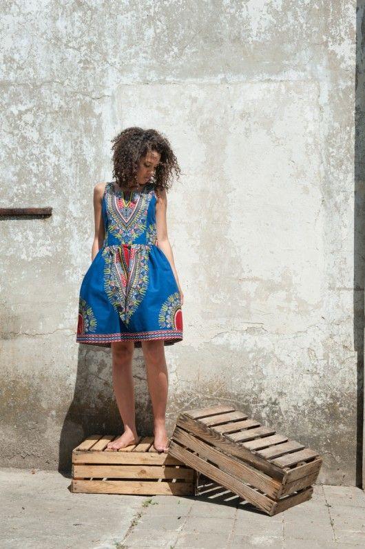 Sukienka batikowa z Afryki rozmiar M