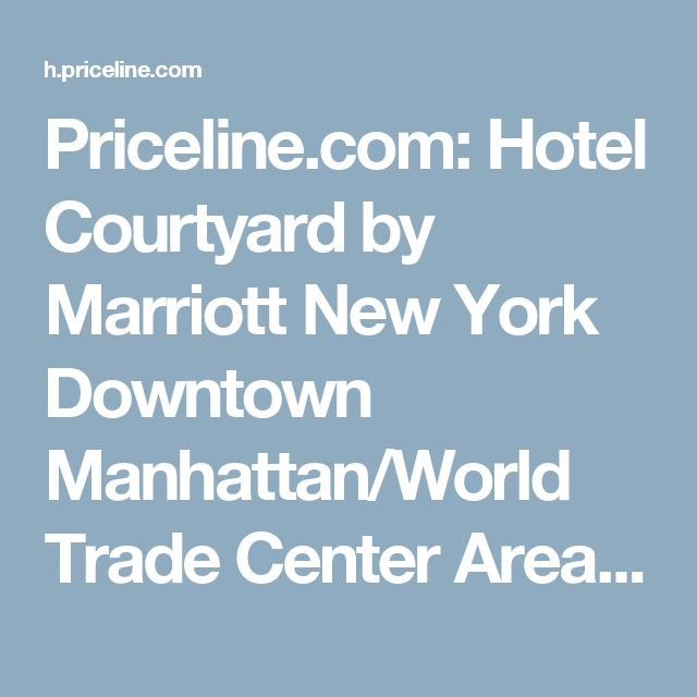 Priceline.com: Hotel Courtyard by Marriott New York Downtown Manhattan/World Trade Center Area , Nueva York, EE.UU. - 506 . ¡Reserva ahora tu hotel!
