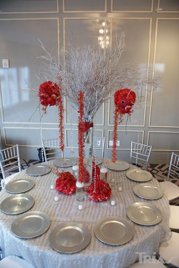 17 best images about red and silver wedding ideas on pinterest receptions centerpieces and - Red and silver centerpiece ideas ...