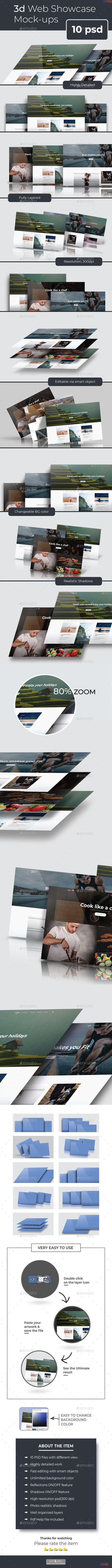3d Web #Showcase Mockups - Product #Mock-Ups Graphics