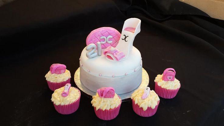Mini Shoe & Handbag cake plus matching cupcakes (Bloemfontein cake & cupcakes)