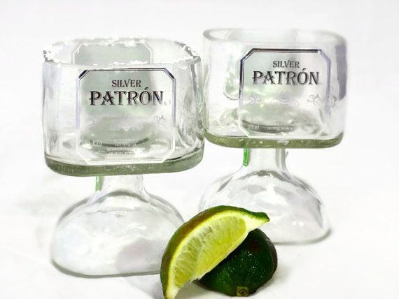 Small Patron Tequila Bottle Margarita Drinking Glass by Rehabulous, $25.99