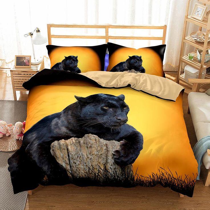 3D Animal Snow Leopard Printed 9 Bedding Sets/duvet cover set