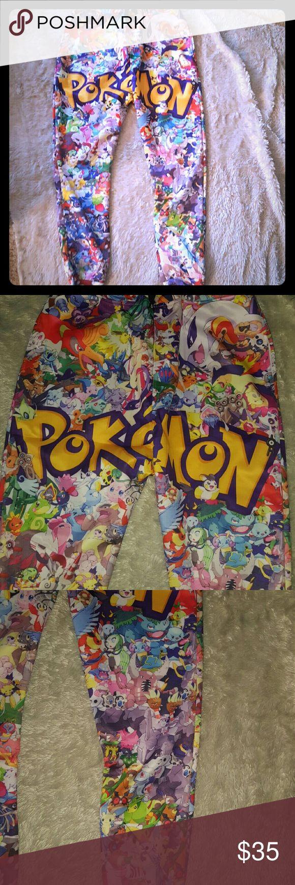 NWOT POKEMON drop crotch joggers Pokemon drop crotch joggers  has pockets, elastic waist  Pikachu  Jiggly puff Hot topic Pokemon Pants Track Pants & Joggers