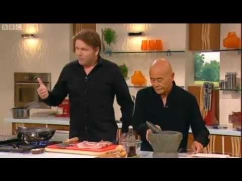Ken Hom Roast Pork Belly SaturdayKitchenRecipeSearch.co.uk