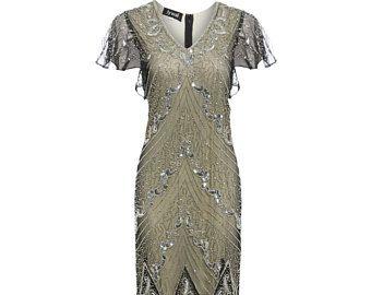 Miranda Embellished Flapper Dress, 1920s Great Gatsby Inspired, Sequin Maxi Dress, Bridesmaid , Wedding Formal Dress, Plus Size Dress, S-4XL