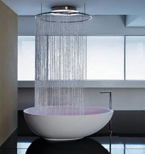 bath tub that fills from ceiling Holy.Cow.