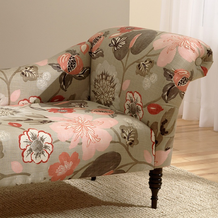Marlowe Chaise Lounge In Gorgeous Blossom