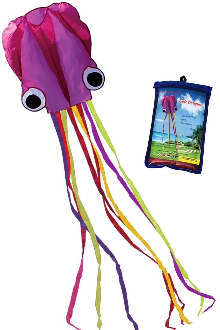 Amazon.com: Hengda Kite Software Octopus Flyer Kite with Long Colorful Tail for Kids, 31-Inch Wide x 157-Inch Long, Large, Purple: Sports & Outdoors   @giftryapp