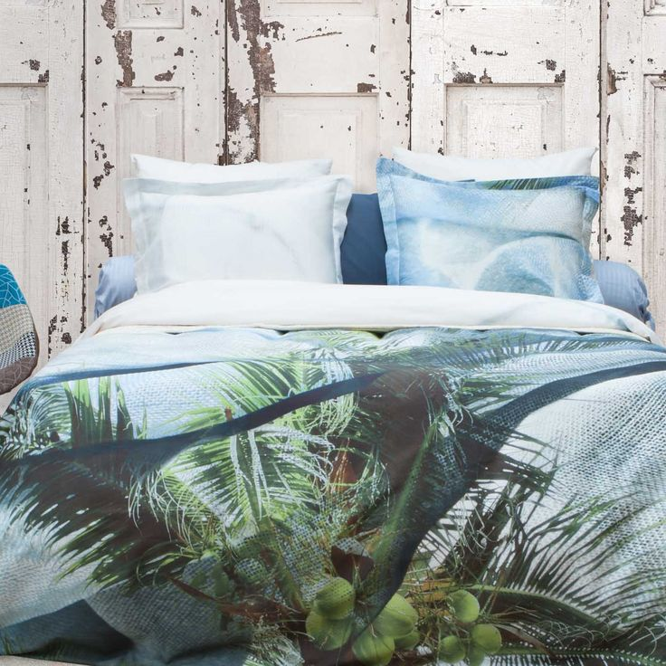 Waan je in tropische sferen met het dekbedovertrek van Heckett & Lane! #mooi #slaapkamer