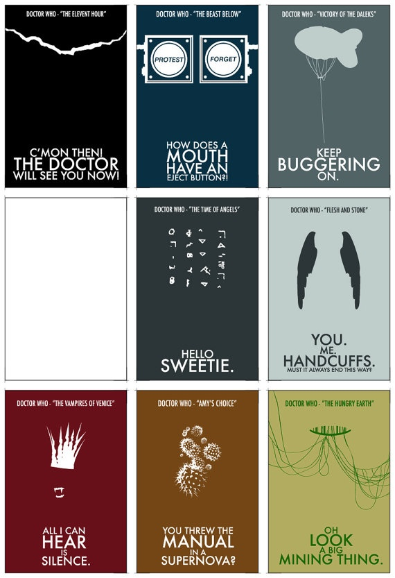 ~ Doctor Who Quote Stationary Set ...