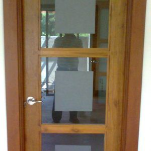 Wooden Doors With Glass Panels