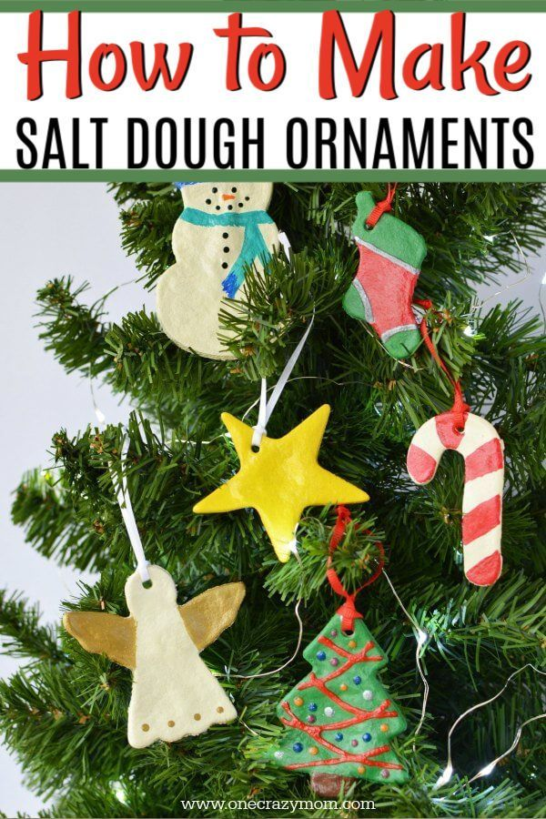 Salt Dough Ornaments Easy Salt Dough Recipes Diy Christmas Ornaments Kids Christmas Ornaments Salt Dough Christmas Ornaments