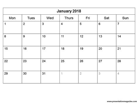 Image result for printable month by month calendar 2018