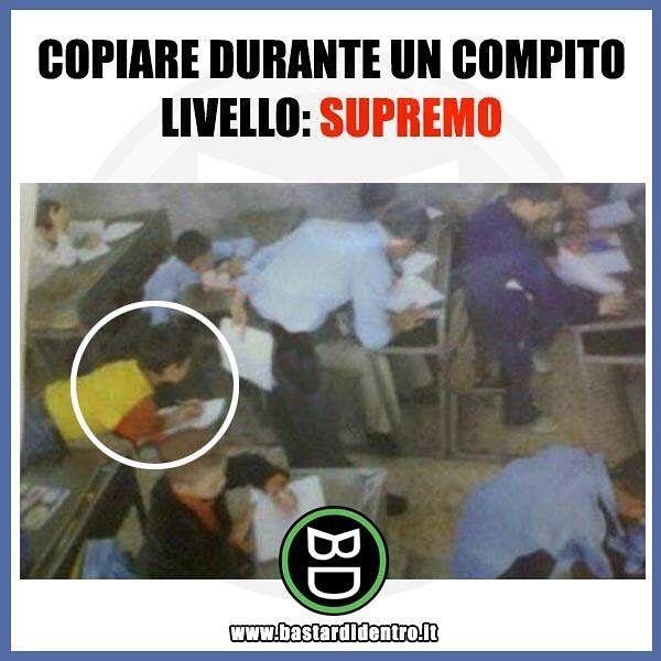 Il livello supremo per #copiare a #scuola! #bastardidentro #scuola www.bastardidentro.it