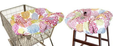 RITZY SITZY™ Shopping Cart and High Chair Cover- Fresh Bloom - Cute as a Button Baby Boutique