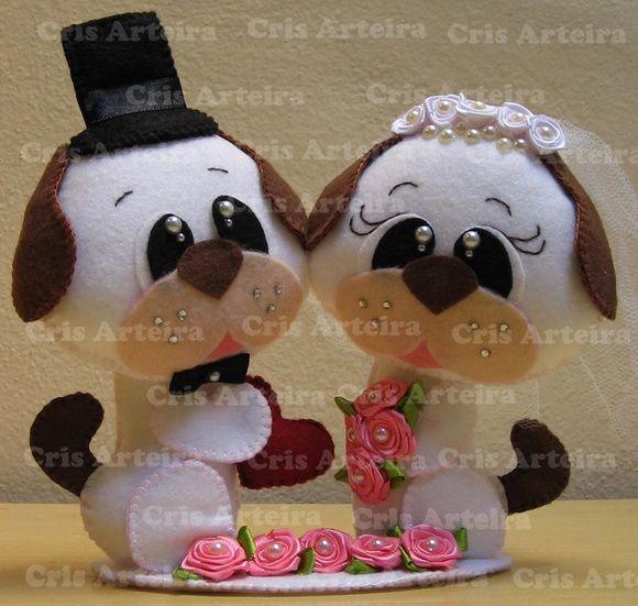 Topo de bolo de cachorrinhos