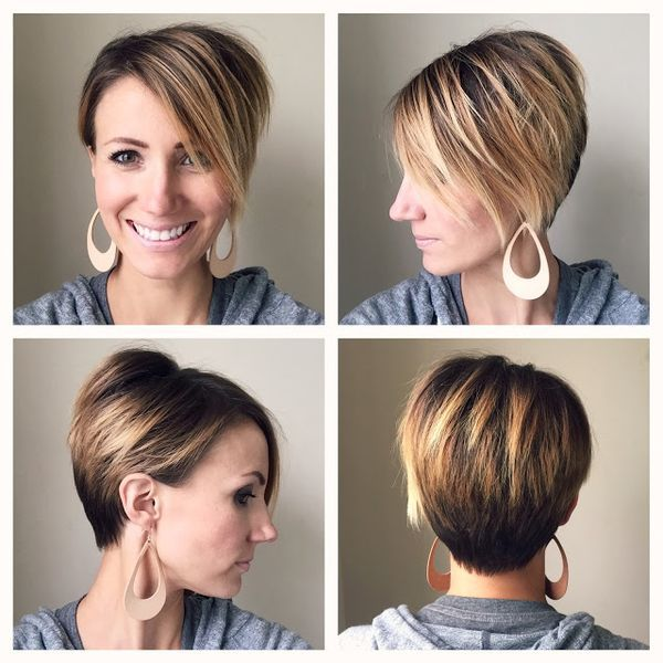 Long Pixie 360 degree view, asymmetrical, ombre | *lovely ...