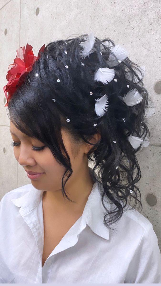 文化祭 卒業式 成人式 ラインストーン Ljk Hair Make Salon Revier 祇園 河原町 セットサロン 2021 盛り 髪 ヘアセット ロング ヘアセット