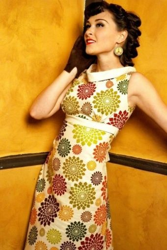 Heartbreaker Fashion - HEARTBREAKER 60s mod Fifi Gizmo dress creme jurk sixties