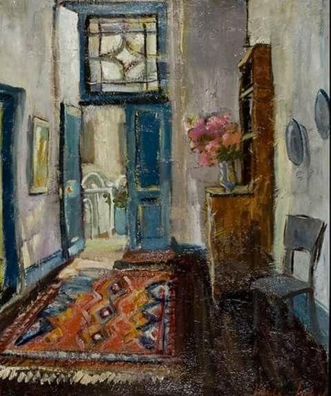 Hall Interior by Freida Lock.1961.