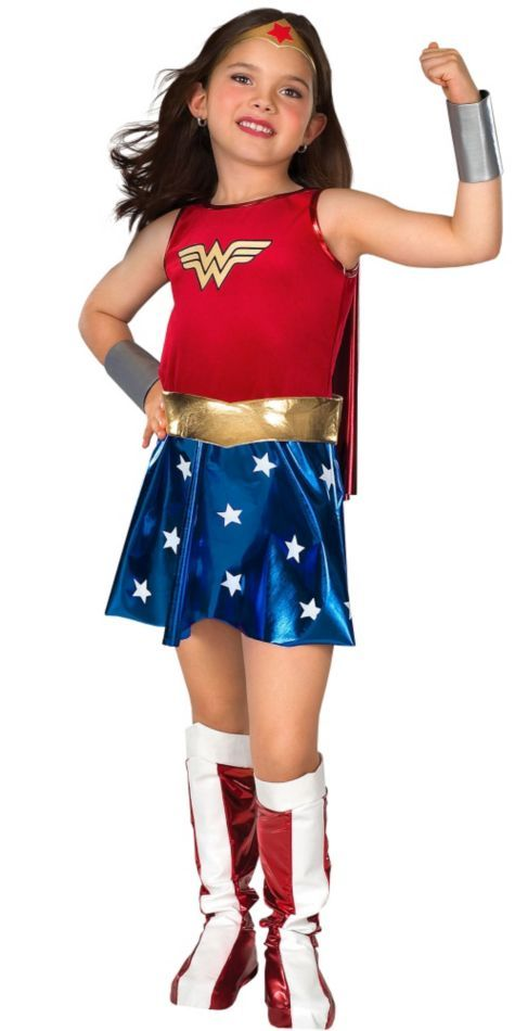 Addi wants to be Wonder Woman .Girls Wonder Woman Costume - Party City
