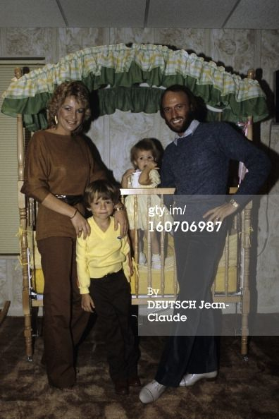 Yvonne, Adam (age 5), Samantha (age 1) and Maurice in 1981