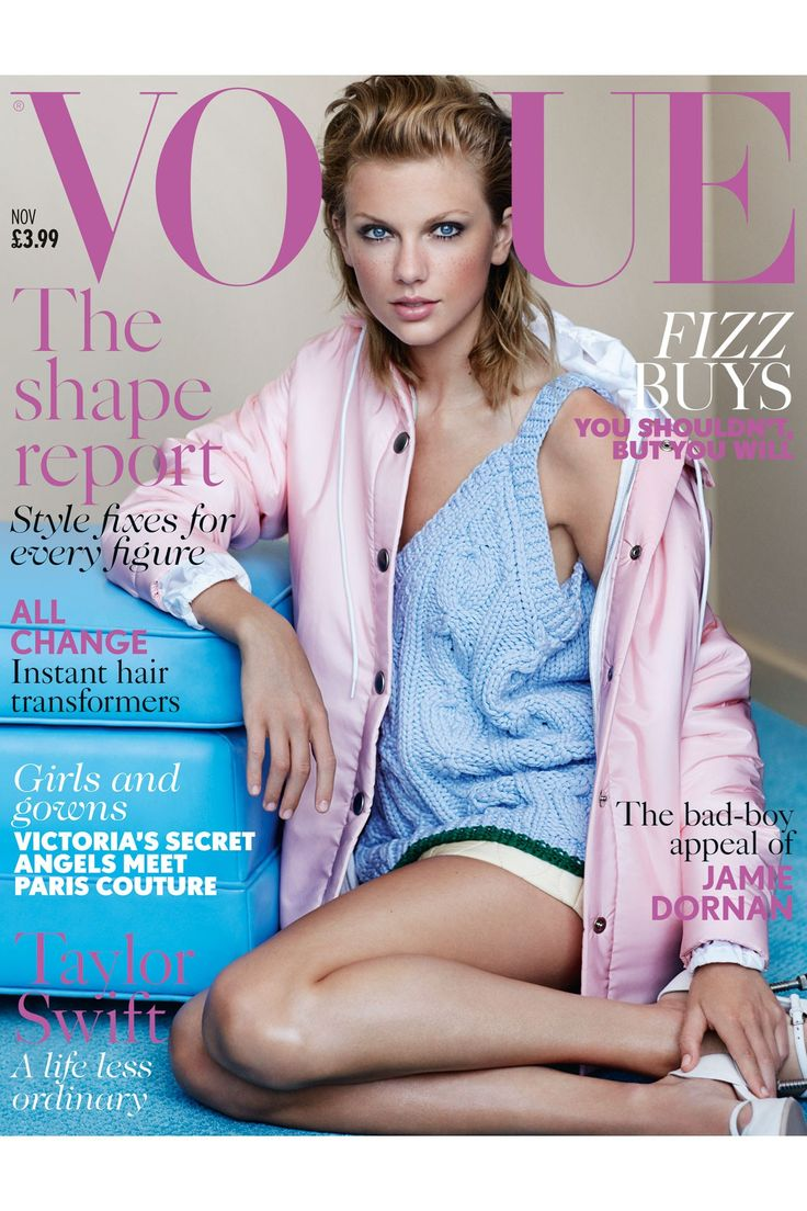 Taylor Swift British Vogue Cover Debut - November 2014 issue