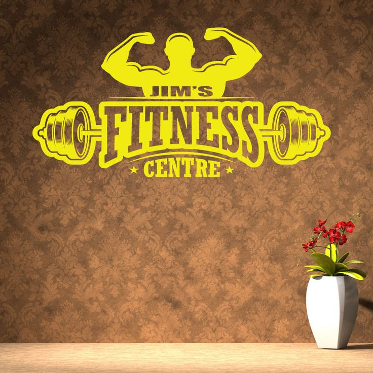 Personalised fitness centre gym quote wall stickers art decor w179