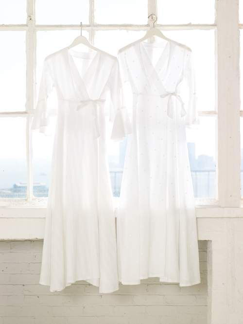 finally a plain white cotton robe...