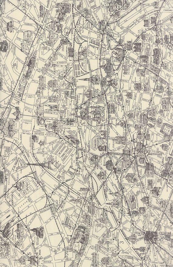 44 best Maps Paris history images on Pinterest Paris, Paris - best of world map fabric etsy