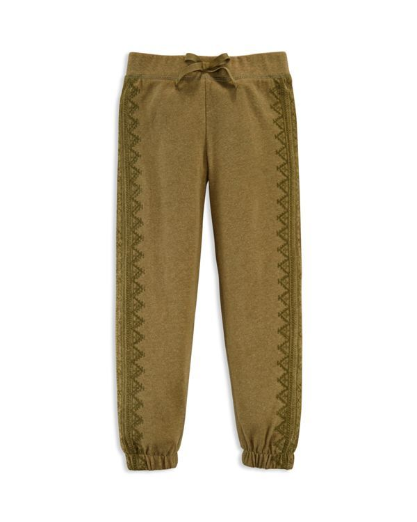 Ralph Lauren Girls' Embroidered Knit Pants - Sizes 2-6X