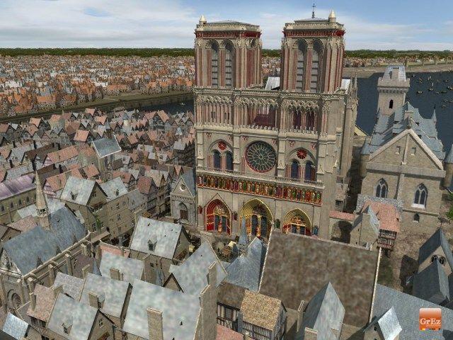 notre-dame-paris Reconstitution de Paris au Moyen Âge