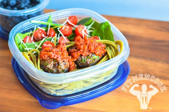 Spinach meatball pasta recipe