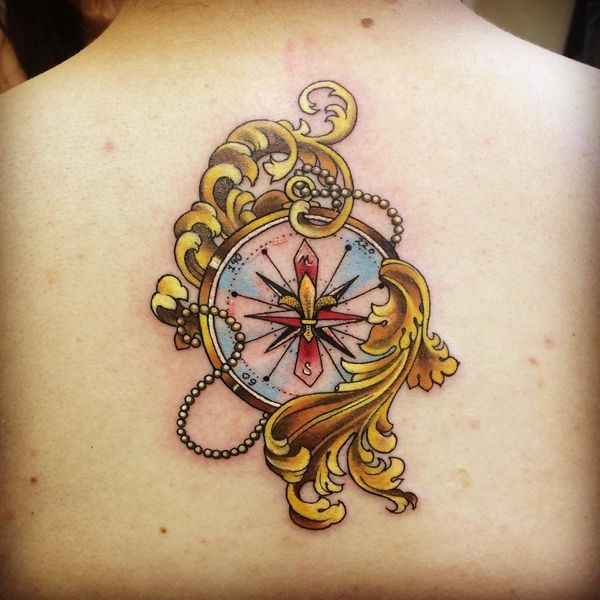 14 Best Vintage Compass And Anchor Tattoo Images On