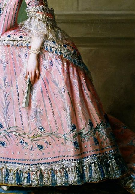 Traveling through the history of Art...Carlota Joaquina de Borbón, detail, by Salvador Maella, 1785.