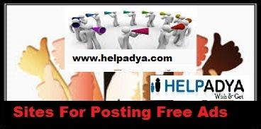 Looking for best packagesonSites for Posting Free Ads in Delhi, India, well you've reached the correct place. Help Adya is the perfect place to go,and advertise your advert as best as per the standards by ensure you'll get maximum customers. So what are you waiting for visit our websitewww.helpadya.comor call at 8527198118.