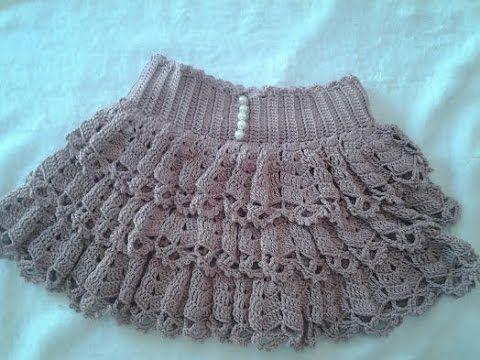 Falda de volantes a crochet 1ª parte paso a paso