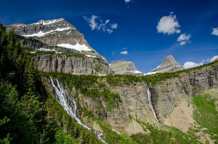 Waterfalls are plentiful along the trail in Glacier National Park.- 25 Photos That Will Make You Want To Hike The Pacific Northwest Trail