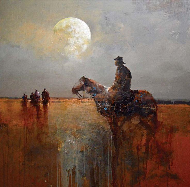 Mel Brigg - The Protector, acrylic, 122 x 122 cm