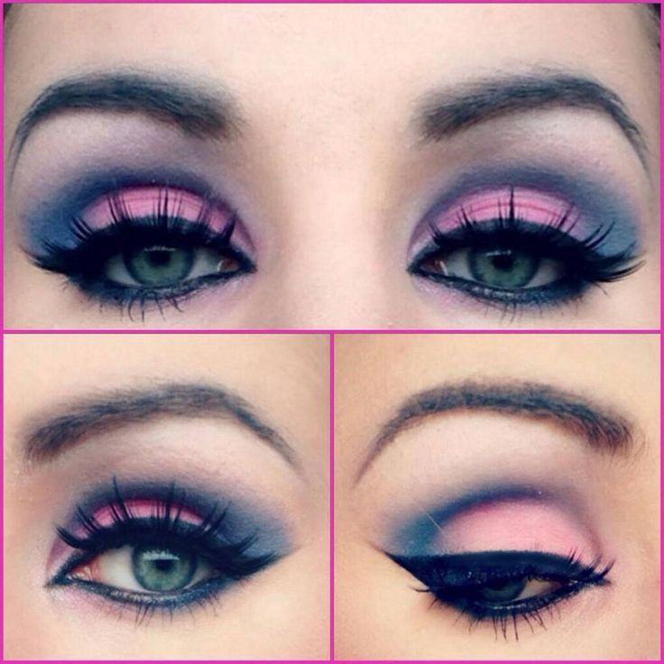 pink & blue  https://www.facebook.com/MonikaWitek.MakeUp