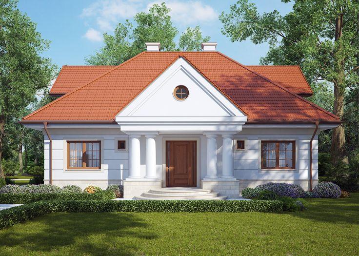 LK&795- dom jednorodzinny w stylu dworkowym