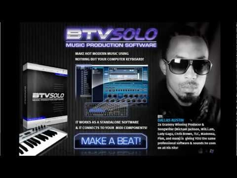 BTV SOLO Discount: http://www.beatmakingsoftwareformac.com/    BTV Solo Beat Maker is one of the latest software package that was co-developed by Dallas Austin who has won multiple Grammy Awards.    Speaking about the easy customizing, it's even easier to load back up your kits and instruments, whether stock or user special. BTV Solo loads the sound...