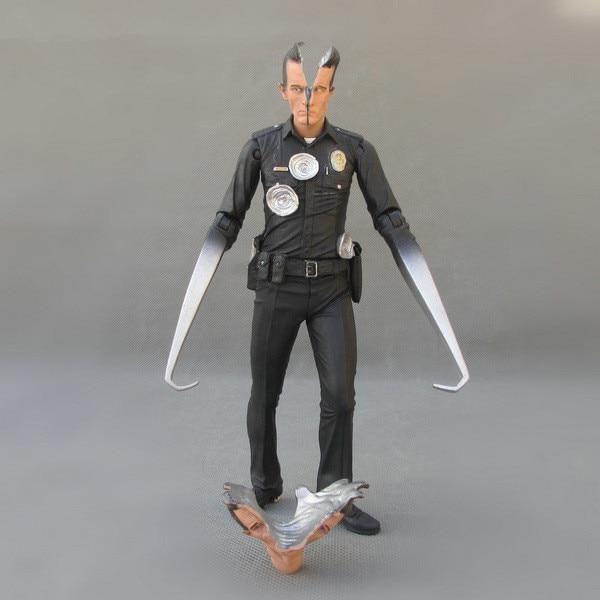 NECA The Terminator 2 T-800 T-1000 PVC  18cm  Action Figure Model Toy