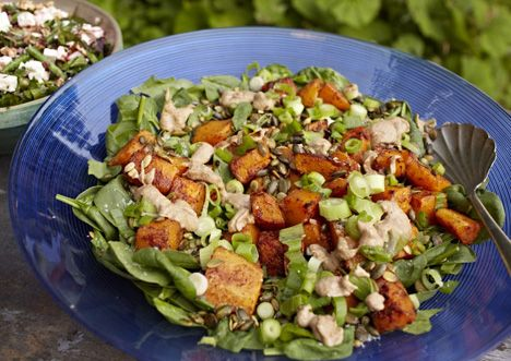 A simple pumpkin salad... http://www.sarahwilson.com.au/2012/09/a-simple-pumpkin-salad-that-i-made-for-the-royal-family/
