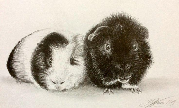 Knud and Pjuske  By artist Kirstine Wistrup