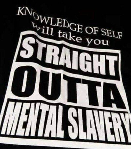 Knowledge of self is real wealth and what will elevate you.