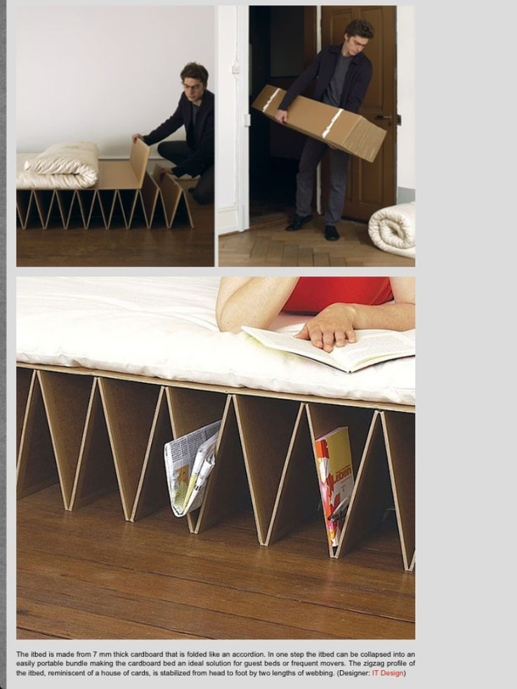 Dude   Itu0027s A Functional, Portable Bed Made Out Of Folded Cardboard